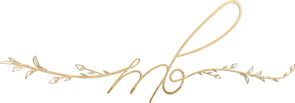Mary Bielski's gold scripted logo